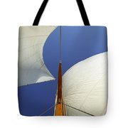 The Genoa And Mainsail Of A Classic Sailboat Tote Bag
