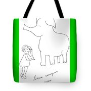 The Girl And Elefant. Tote Bag
