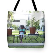 The Girl Between The Pots Tote Bag