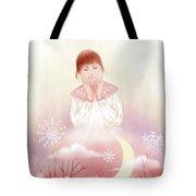 The Girl In Meditation Tote Bag