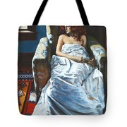 The Girl In The Chair Tote Bag