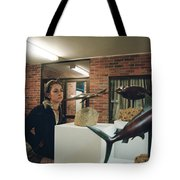 The Girl In The Exhibition Tote Bag
