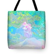The Girl In The Pink Light Tote Bag