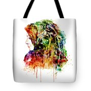 The Girl Is A Dj Tote Bag