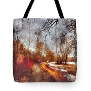 The Girl On The Path Tote Bag