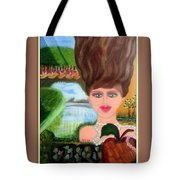The Girl With A Wooden Hair Tote Bag