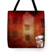 The Girl With Teddy Bear Tote Bag