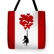 The Girl With The Red Balloons Tote Bag