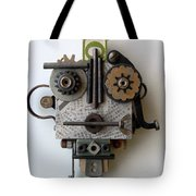 The Girl With The Spaceship Hat Tote Bag by Jen Hardwick