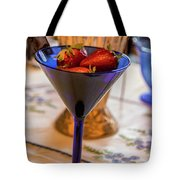 The Glass Of Strawberries Tote Bag