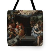 The Glorification Of Art And Diligence And The Punishment Of Gluttony And Earthly Pleasures Tote Bag