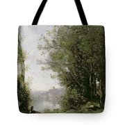 The Goatherd Beside The Water  Tote Bag
