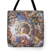 The Gods Of Olympus Tote Bag by Giulio Romano