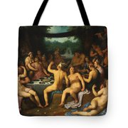 The Golden Age Bacchanal Or The Garden Of Love 1614 Tote Bag