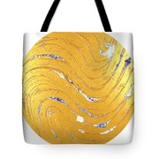 The Golden Flow Of Peace Tote Bag
