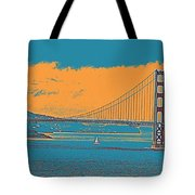 The Golden Gate Bridge In Sfo California Travel Poster Tote Bag