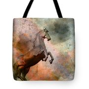 The Golden Horse Tote Bag