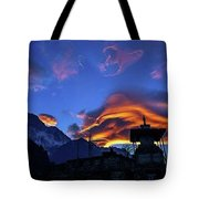 The Golden Light Of Nepal Tote Bag