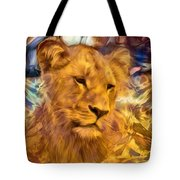 The Golden Lioness  Tote Bag
