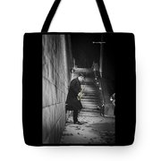 The Golden Saxophone Player Tote Bag