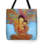 The Golden Tree Of Life Tote Bag