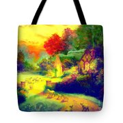 The Good Shepherd Painting In Hotty Totty  Tote Bag