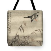 The Goose That Takes Off Tote Bag