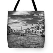 The Grand Canal Bw Tote Bag