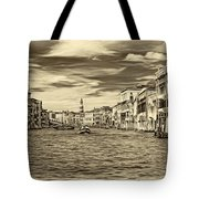 The Grand Canal - Paint Sepia Tote Bag