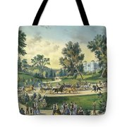 The Grand Drive, Central Park, New York, 1869 Tote Bag
