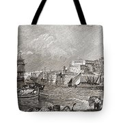 The Grand Harbour, Valetta, Malta After Tote Bag