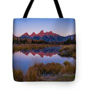 The Grand Tetons From Schwabacher's Landing Tote Bag