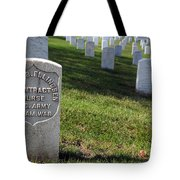 The Grave Of Martha B. Ellingsen In Arlington's Nurses Section Tote Bag