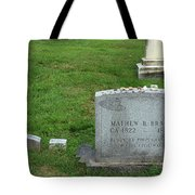 The Grave Of Mathew Brady -- Renowned Photographer Of The American Civil War Tote Bag