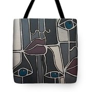 The Gray Faces Tote Bag