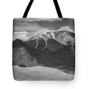 The Great Colorado Sand Dunes  125 Black And White Tote Bag