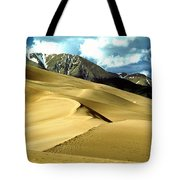 The Great Colorado Sand Dunes Color Print Tote Bag