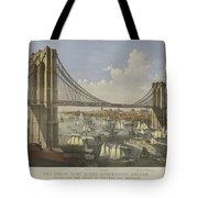 The Great East River Suspension Bridge Tote Bag