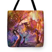 The Great Fire Of Woman Tote Bag