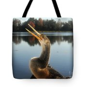 The Great Golden Crested Anhinga Tote Bag