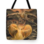 The Great Red Dragon And The Woman Clothed With The Sun Tote Bag