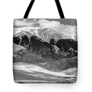 The Great Sand Dune Valley Bw Tote Bag