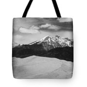 The Great Sand Dunes And Sangre De Cristo Mountains - Bw Tote Bag