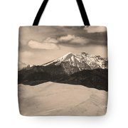 The Great Sand Dunes And Sangre De Cristo Mountains - Sepia Tote Bag