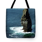 The Great Sea Stack Brananmore Cliffs Of Moher Ireland Tote Bag