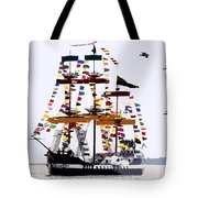 The Great Ship Gasparilla Tote Bag