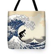 The Great Surfer Off Kanagawa Tote Bag