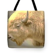 The Great White Buffalo Tote Bag