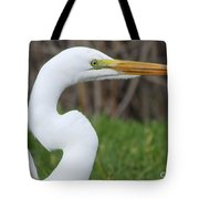 The Great White Egret Tote Bag