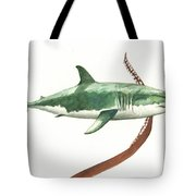 The Great White Shark And The Octopus Tote Bag